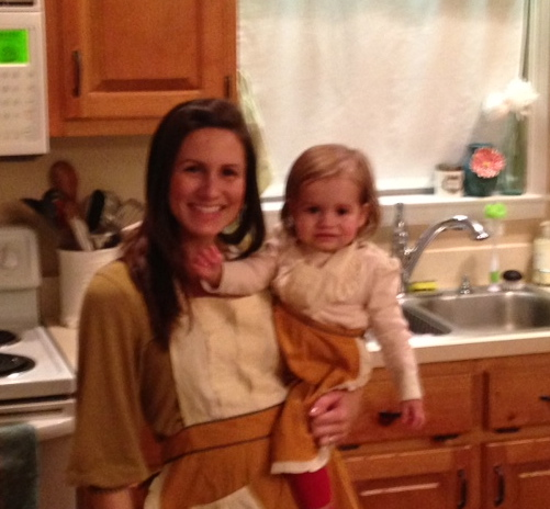 Yes, we have matching aprons.