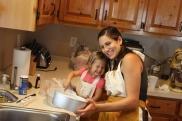 Making Lola's cake