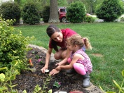 Planting flowers with Momma!